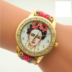 Beauty Women Print Woven Strap Watch - Oh Yours Fashion - 1