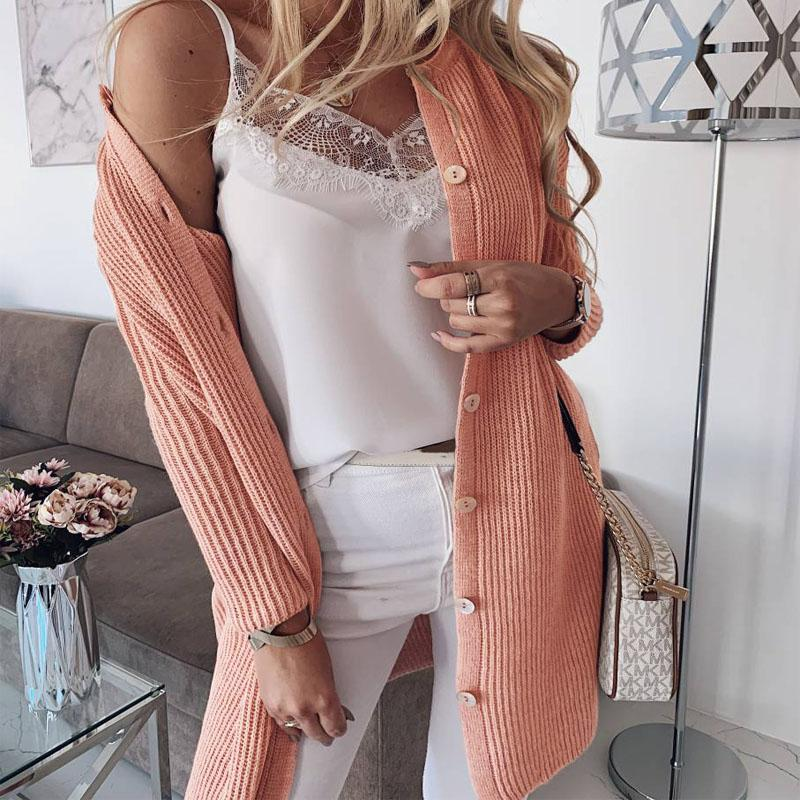 Knit Button Up Oversized Sweater Cardigan