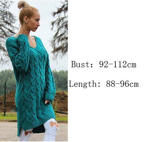 Fashion Dip Hem Braid Knitting Long Sweater - Oh Yours Fashion - 4