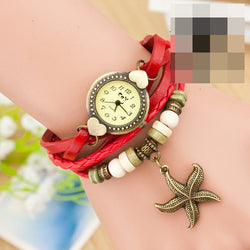 Heart Starfish Woven Bracelet Watch - Oh Yours Fashion - 1