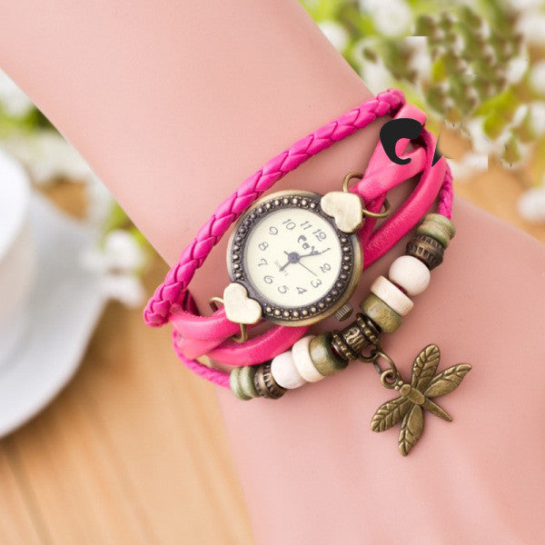 Dragonfly Decorate Multilayer Watch - Oh Yours Fashion - 1