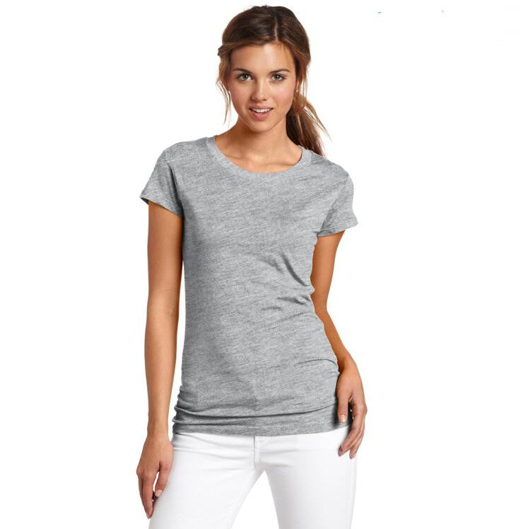 Fashion Pure Color Short Sleeve Soft Cotton T-Shirt - Oh Yours Fashion - 2