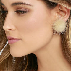 Sweet Furry Ball Women's Earrings - Oh Yours Fashion - 1