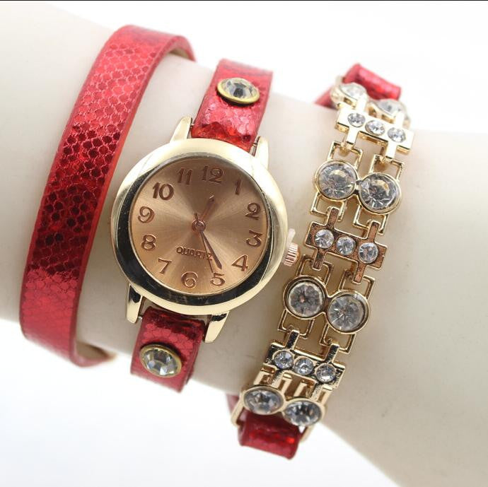 Personality Crystal Patchwork Watch - Oh Yours Fashion - 3