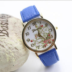 Classic Flower Print Leather Watch - Oh Yours Fashion - 4