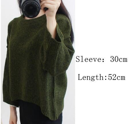 Loose Batwing Sleeve Pullover Knitting Sweater - Oh Yours Fashion - 4