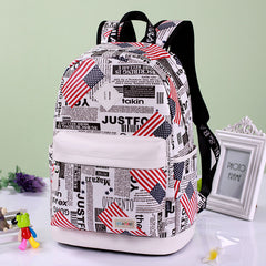 Preppy Style Print School Backpack Travel Bag - Oh Yours Fashion - 6