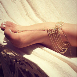 Sexy Multilayers Tassel Chain Ankles - Oh Yours Fashion - 1