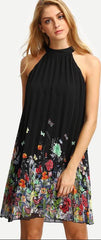 Sleeveless Halter Pleated Loose Dress - Oh Yours Fashion - 2