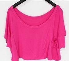 Scoop Casual Short Sleeve Pocket Short Midriff-baring T-shirt - Meet Yours Fashion - 11