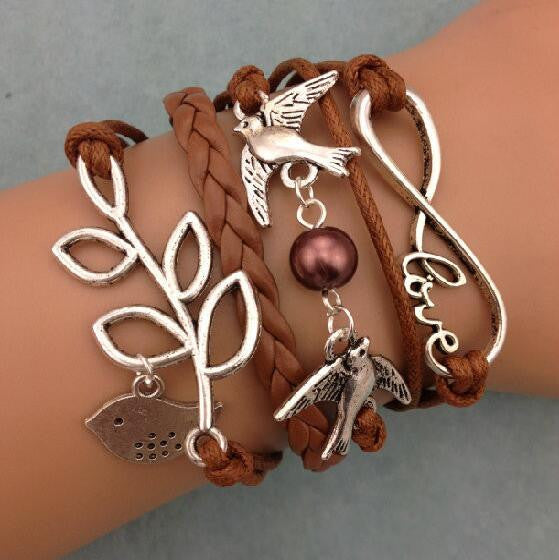 Dove Pearl Olive Branch Love Manual Bracelet - Oh Yours Fashion