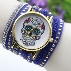 Beautiful Flower Skull Lint Bracelet Watch - Oh Yours Fashion - 8