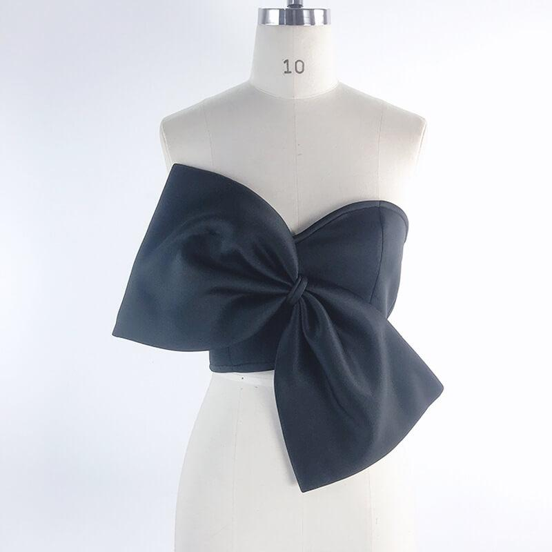 Bow Strapless Crop Top