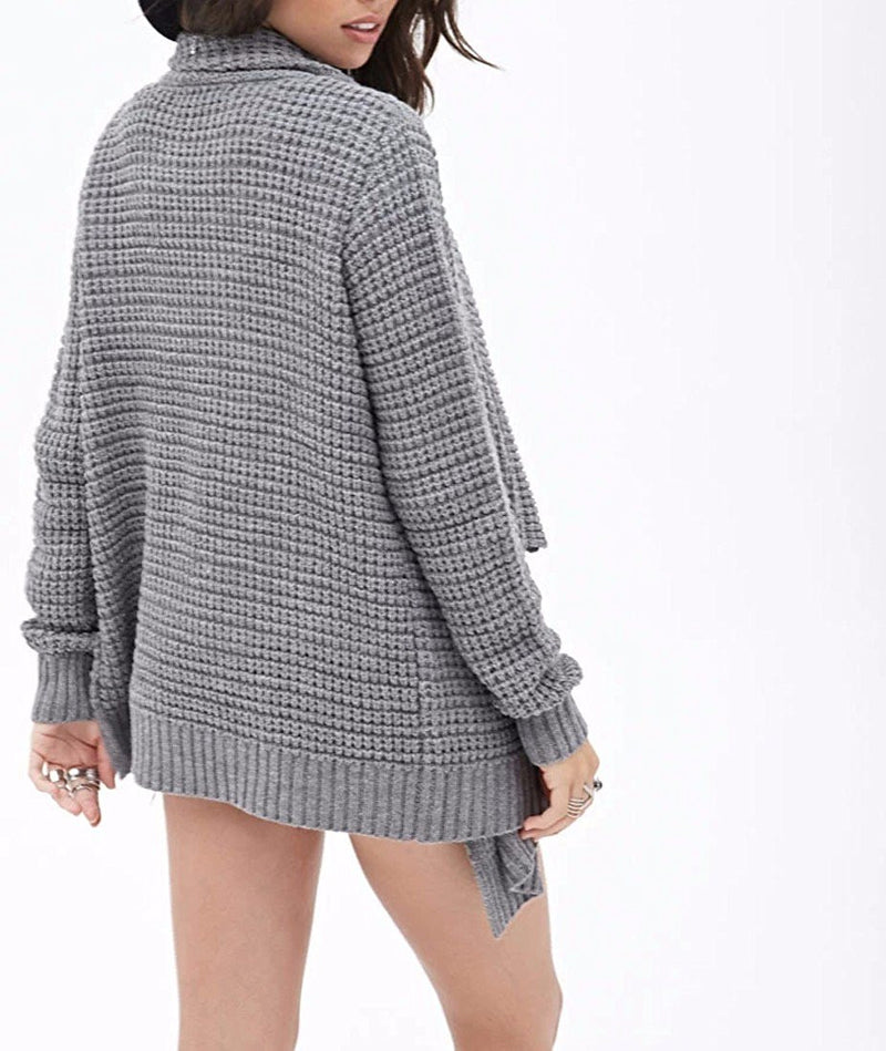 Leisure Hollow-Out Irregular Ladies Knitted Cardigan - Oh Yours Fashion - 6