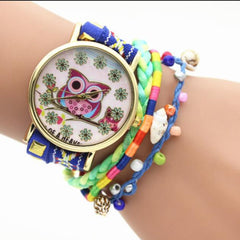 Owl Multilayer Bracelet Watch - Oh Yours Fashion - 3