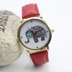 Colorful Elephant Leather Quartz Watch - Oh Yours Fashion - 3