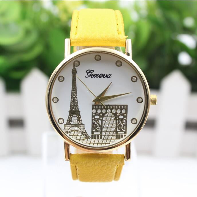 Building Design Print Leather Watch - Oh Yours Fashion - 1