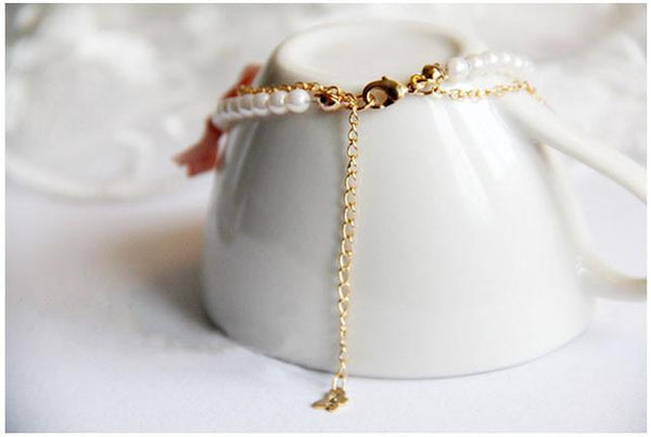 Bowknot Pearl Shell Beach Bracelet - MeetYoursFashion - 2