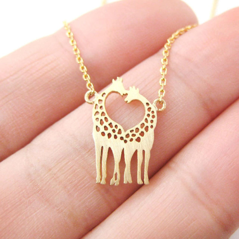 Giraffe Shaped Animal Themed Charm Necklace - Oh Yours Fashion - 1