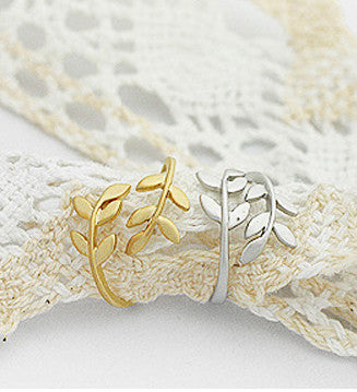 Korean Style Cute Leaf Design Rings - O Yours Fashion - 3