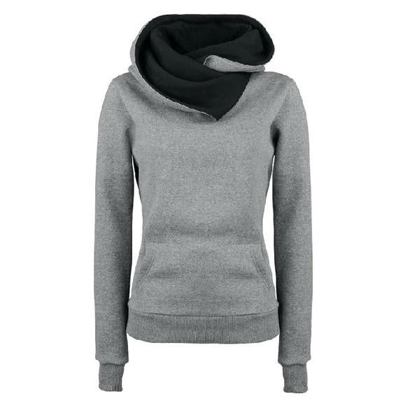 Long Sleeves High Neck Hoodies - Meet Yours Fashion - 4
