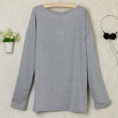 2016 Heart Pattern Long Sleeve T-Shirt - O Yours Fashion - 5