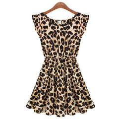 Leisure Slim Fit Leopard Print Short Dress - O Yours Fashion - 4
