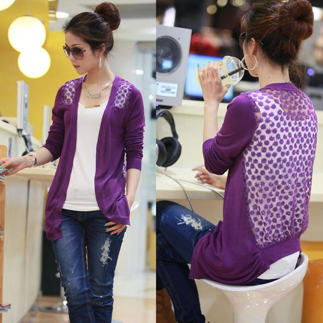 Candy Color Hollow Thin Knitting Blouse - Meet Yours Fashion - 5
