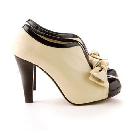 Adorable Bow Design High Heel Shoes in Beige - MeetYoursFashion - 5