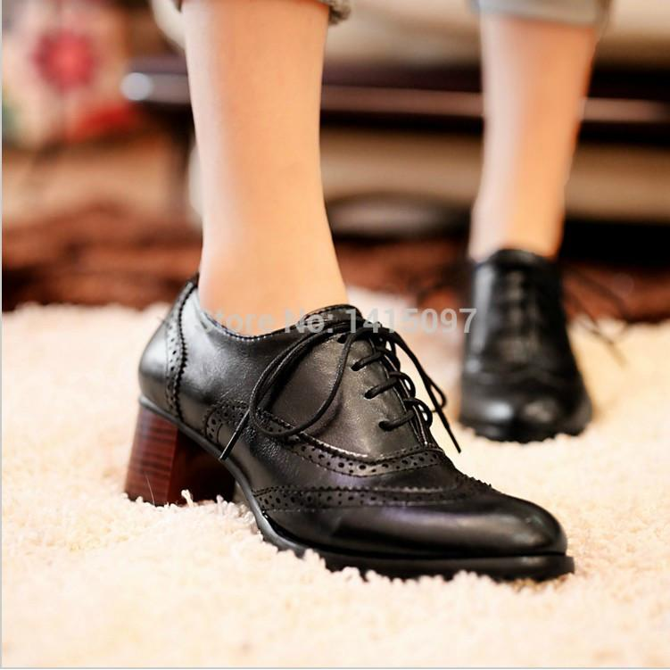 British Style Carved Classy Lace up Oxford Shoes - MeetYoursFashion - 4