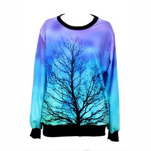 Dreamlike Moonlight Tree Pattern Tees/T-Shirt - O Yours Fashion - 1