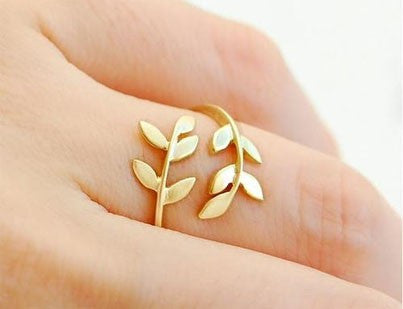 Korean Style Cute Leaf Design Rings - O Yours Fashion - 2