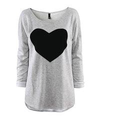 2016 Heart Pattern Long Sleeve T-Shirt - O Yours Fashion - 4