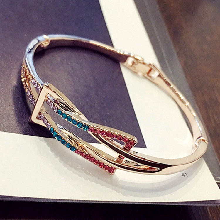 Simple Fashion Crystal Geometric Shape Women's Bracelet - Oh Yours Fashion - 4