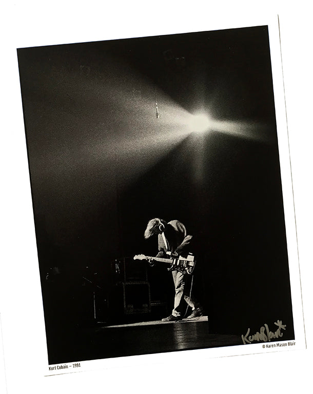 Kurt Cobain photo 8x10 signed - old school promo - 1991 Live at the Paramount