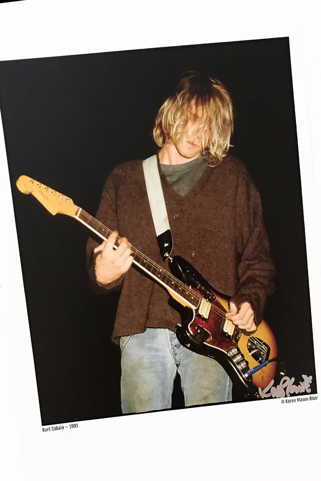 Kurt Cobain Lithium Nirvana photo 8x10 signed  old school promo - 1991