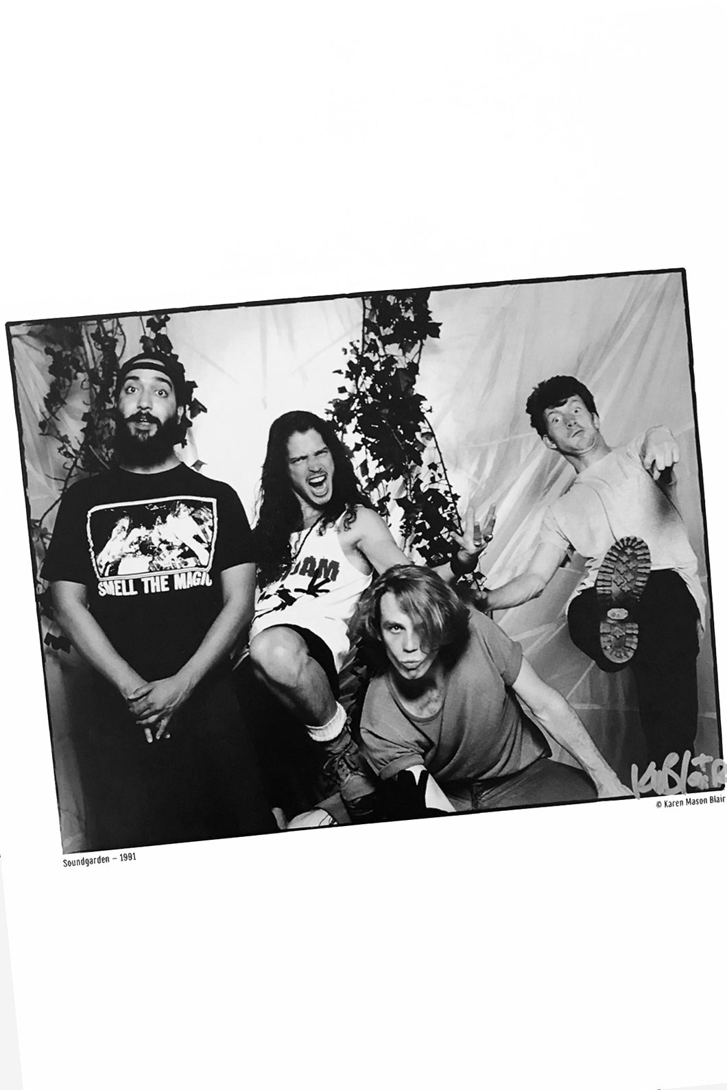 Soundgarden photo 8x10 signed  old school promo 1991