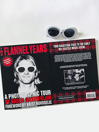 The Flannel Years Book - previously unreleased grunge photos - signed by author with Sunglasses