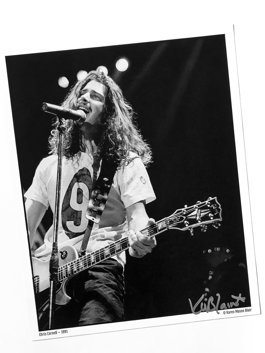 Chris Cornell photo 8x10 signed - old school promo - 1991