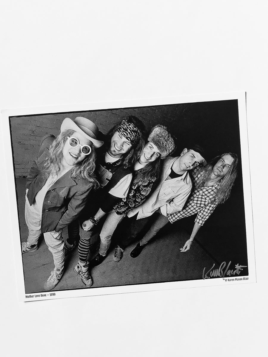 Mother Love Bone photo 8x10 signed - old school promo - 1990