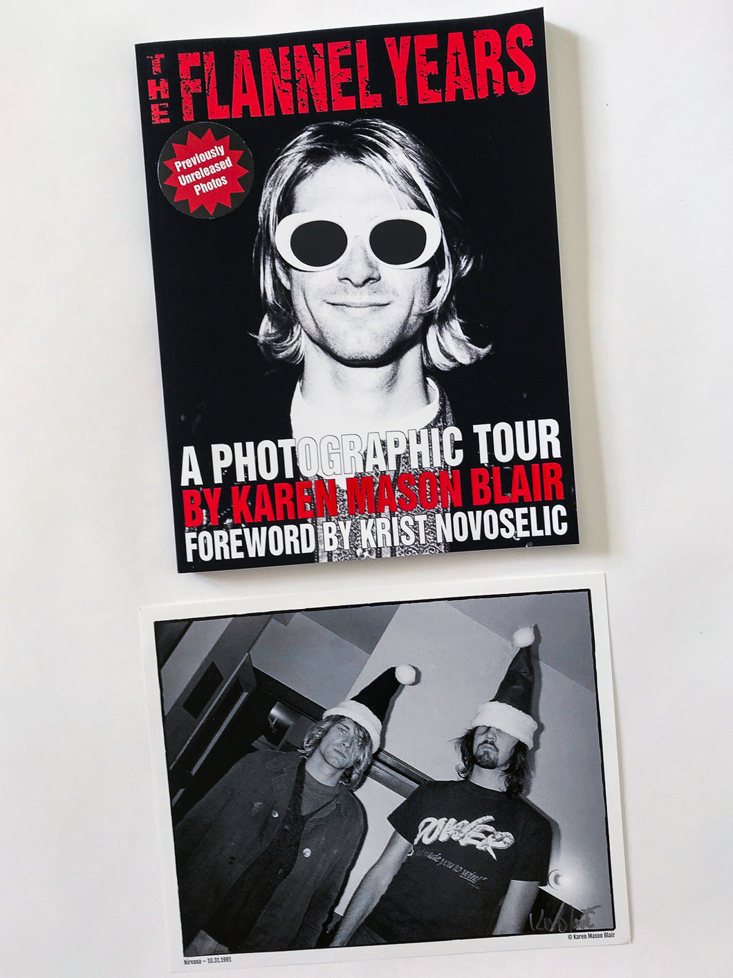 The Flannel Years book - previously unreleased grunge photos bundle - signed book + 1 signed 8x10 photo
