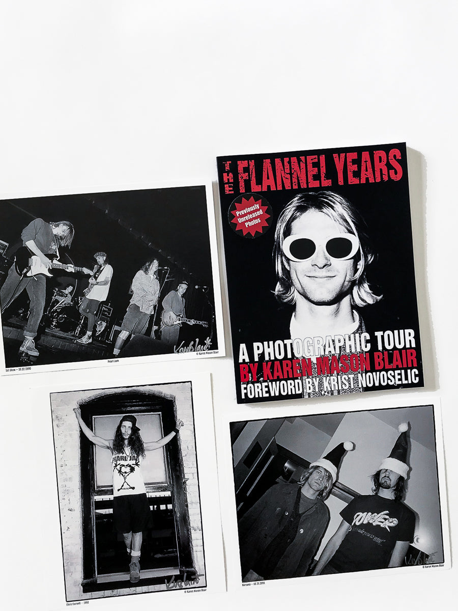The Flannel Years book - previously unreleased grunge photos bundle- signed book + 3 signed 8x10 photos