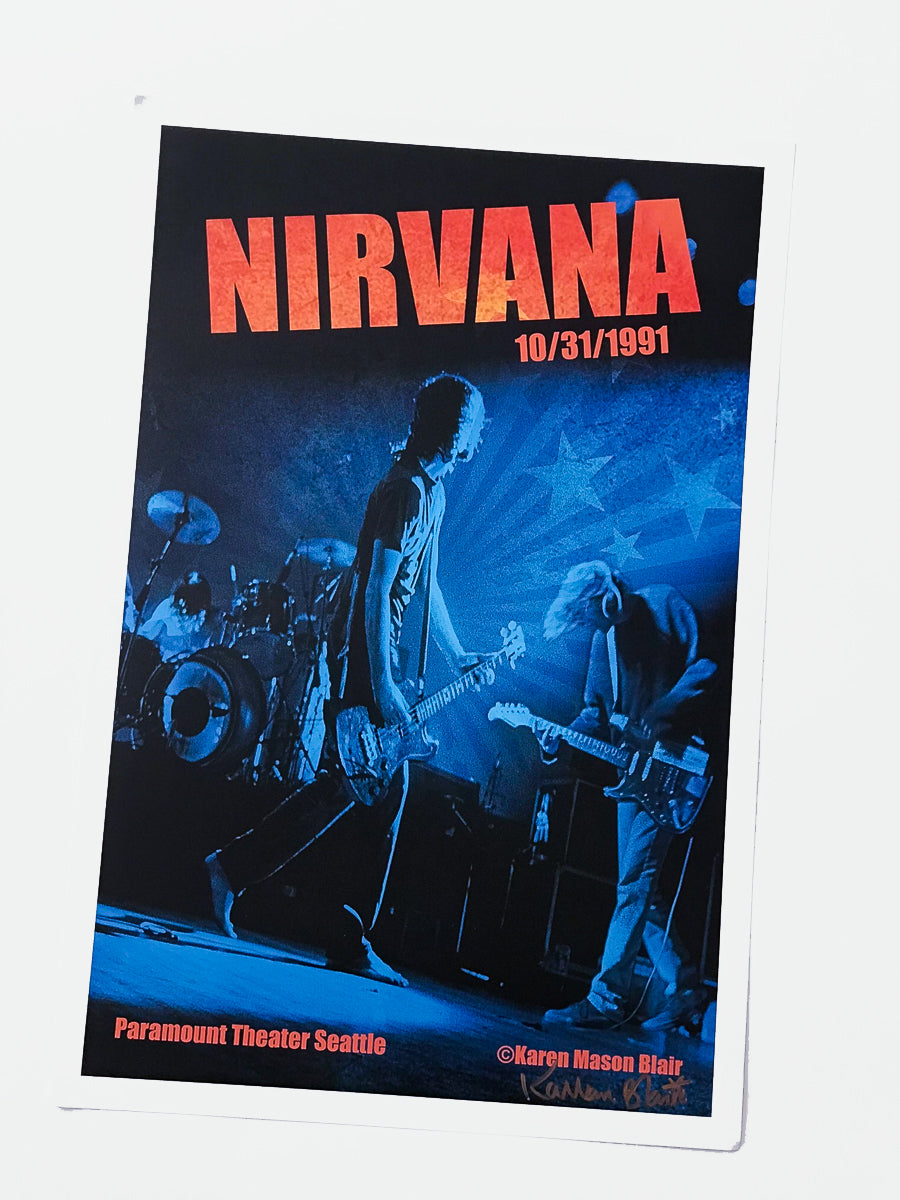 Nirvana Poster Print 12x18 10.31.91 Signed Live at the Paramount