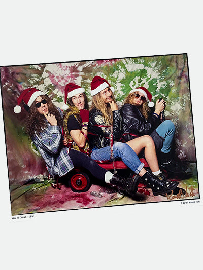 Alice in Chains Christmas photo 8x10 signed  old school promo - 1990