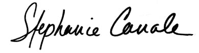 Stephanie Canale's signature