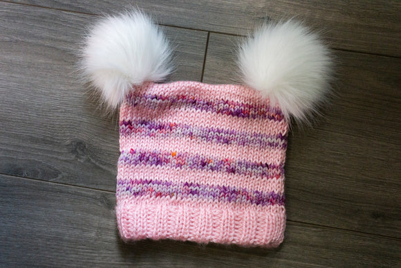 Children's Double PomPom Hat