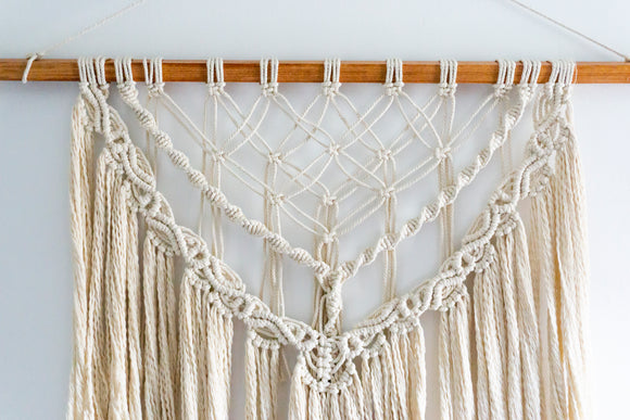 Cascading Diamonds Macrame Decor | Wall Hanging