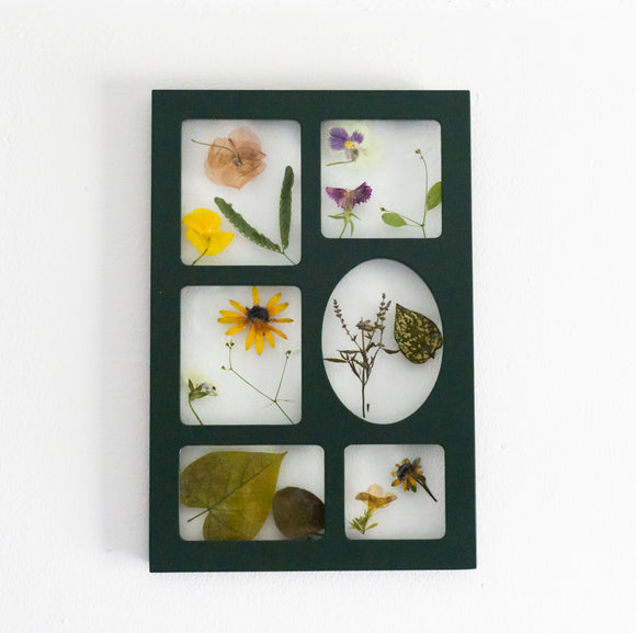 Summer Variety Pressed Flower Art