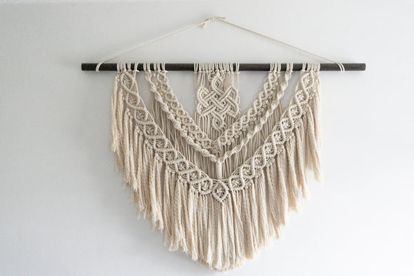 Celtic Ruin Macrame Decor | Wall Hanging
