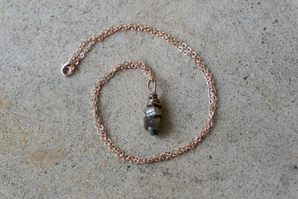 Good Vibes Only | Pyrite Charm Necklace